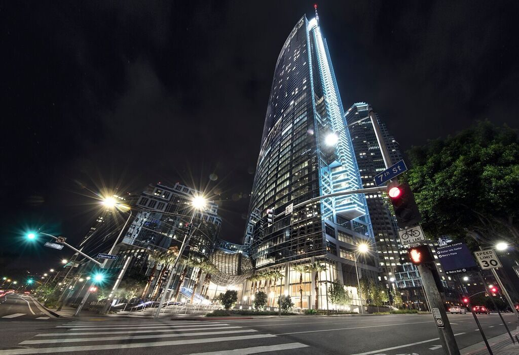 Hôtel InterContinental Los Angeles Downtown - Exterior Night Building