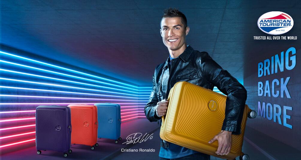 965af6a916 Cristiano Ronaldo, nouvelle égérie d'American Tourister