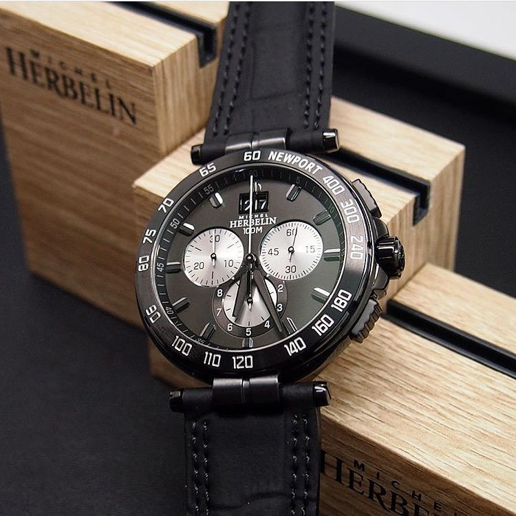 Michel Herbelin Newport Chronographe PVD Noir