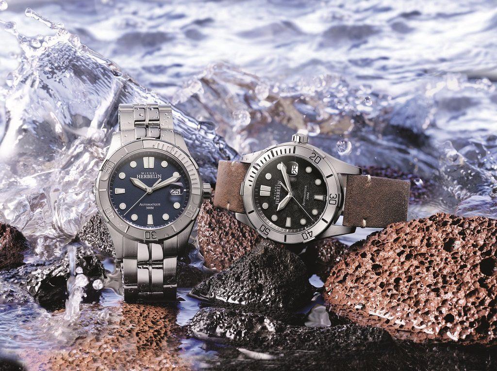 Trophy, montre de plongée automatique de Michel Herbelin mise à l'eau à la Porquerolles Classique