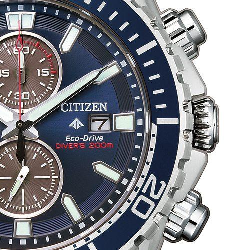 Citizen Promaster Marine, un chronographe de plongée Eco-Drive