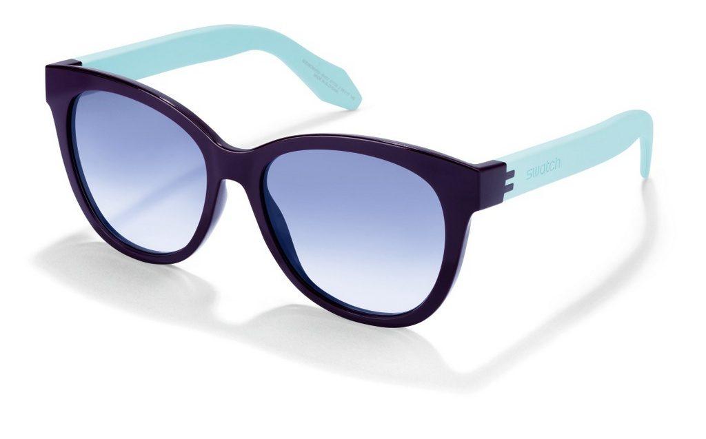 Monture œil de chat en polyamide violet et bleu ciel. Verres dégradés bleus. 3030f413623a