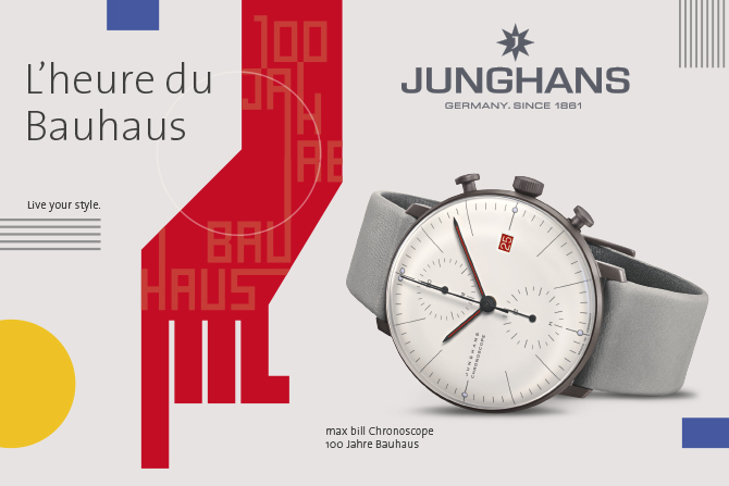 Chronoscope Junghans max bill 100 Jahre Bauhaus
