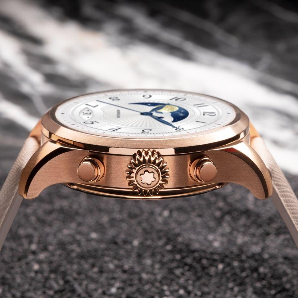 L'attribut alt de cette image est vide, son nom de fichier est montblanc-summit-2-golden-color-steel-montres-tendance.jpg.