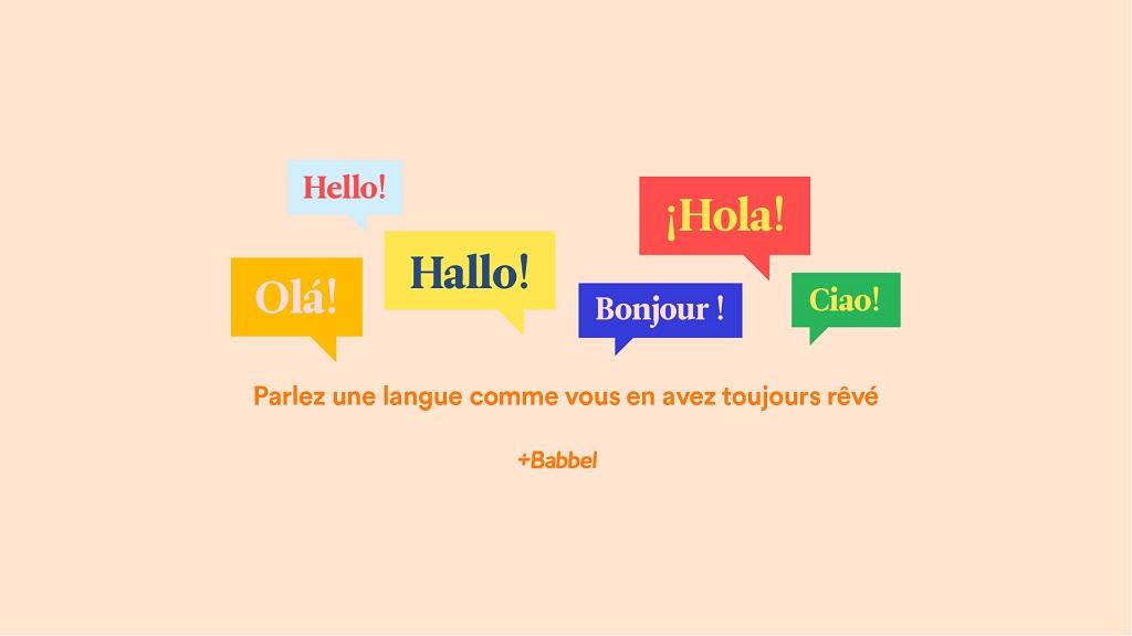 Apprenez une nouvelle langue avec Babbel