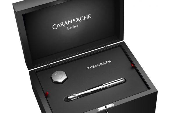 Caran d'Ache Timegraph  célèbre l'alliance du temps et de l'écriture.