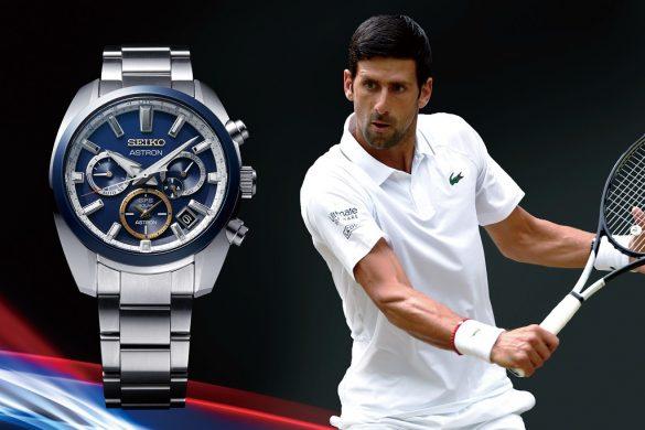 Seiko Astron GPS Solaire sur le podium avec Novak Djokovic