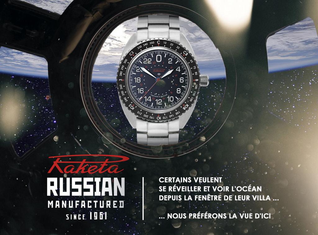 Montre Raketa Baikonour, le cosmos russe à votre poignet !