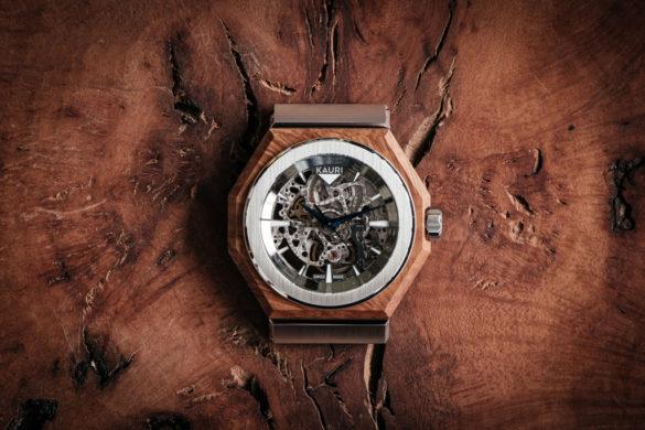 KAURI, une montre automatique avec un habillage en bois précieux