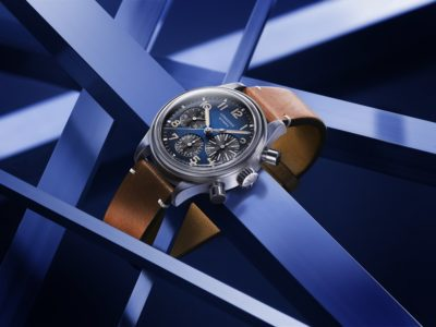 The LONGINES AVIGATION BIGEYE s'habille de titane