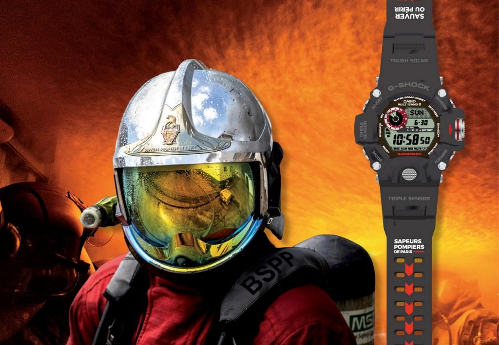 G-SHOCK partenaire officiel de la Brigade de sapeurs-pompiers de Paris